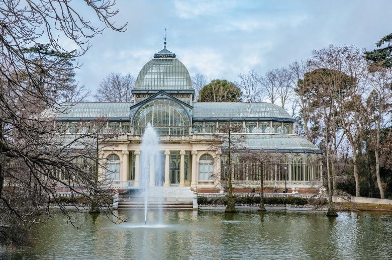 el retiro palacio de cristal parques de Madrid