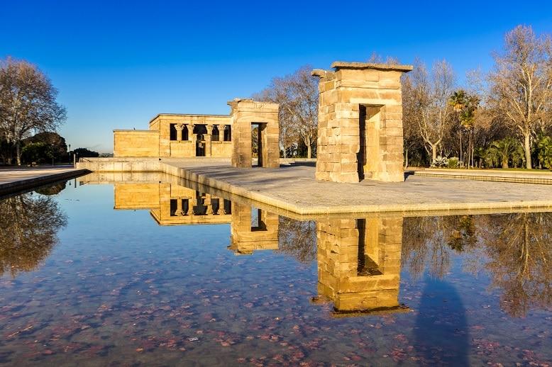 parque oeste templo de debod parques de madrid
