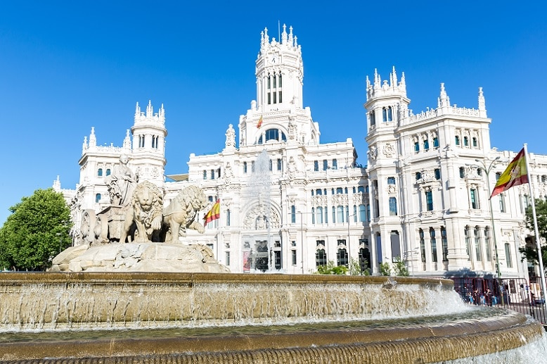 Principales plazas de Madrid plaza de cibeles